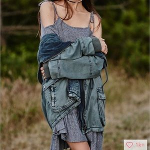 Free people cargo jacket small
